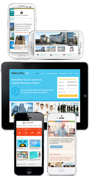 Mobile Responsive Websites designed by Eyesparks in Belfast