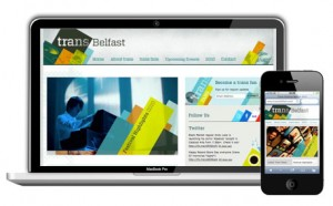There were two versions of the Trans Belfast 2010 website.