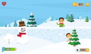 Snowball Mania Game Screen