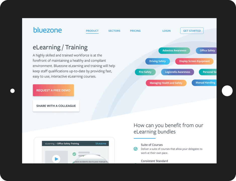 Bluezone Website